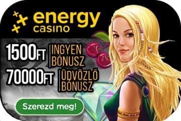 Energy casino bónusz infók
