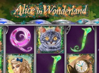 alice in wonderland nyerőgép kaszinó játék
