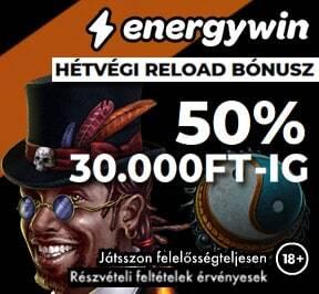 EnergyWin Hétvégi Reload Bónusz